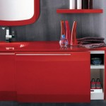 Red Cold Full Of Energy Bathroom From Italian - 2