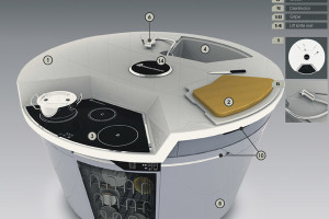 Concept Of Modern Kitchen Design With Different Instruments