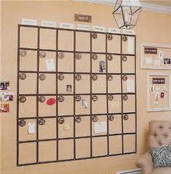 Unique Monthly Calender Wall Decoration Inpiration | Design ...