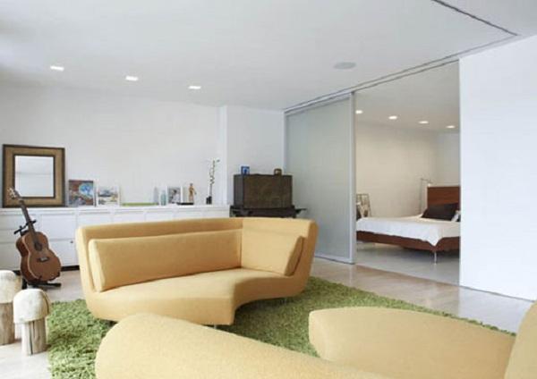 Sofa of Duplex Apartment Interior