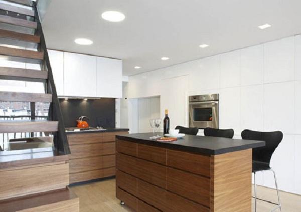 Kitchen of Duplex Apartment Interior