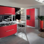 Red White Modern Kitchen Design Idea (4)