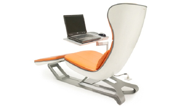 Comfortable Lounge Chairs with Laptop Sidetable | RealcoHomes