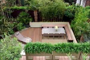 Garden Decor With Dining Table And Lounge