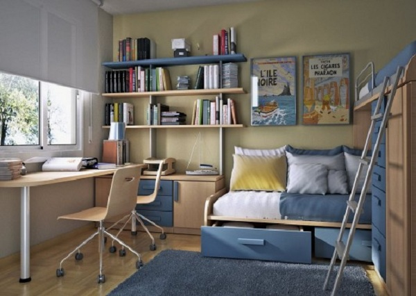 Modern And Small Barcelona Kids Study Room Design | Design ...