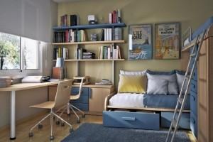 Modern And Small  Barcelona Kids Study Room Design