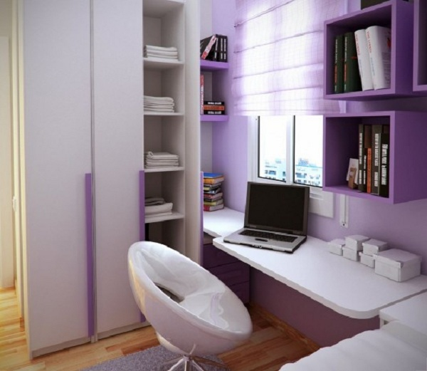Modern And Small Barcelona Kids Study Room Design (