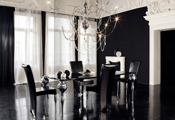 Luxury Black Dining Room Sets With Italian Furniture (1) – Realco