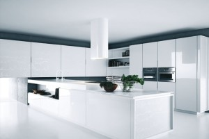 Modern White Kitchen Cabinets With Minimalist Lines