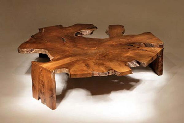 Unique coffee table design rustic furniture with elegant look realcohomes Unique rustic coffee tables