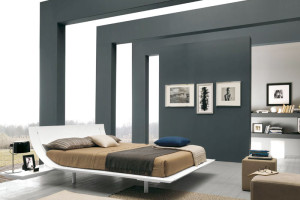 Elegant Wooden Bed with Headboards