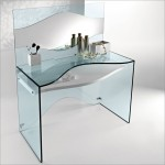 Luxury Transparent Glass Desk With Two Versions (2)
