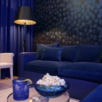Blue Leather Sofa for home interiors