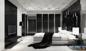 new-black bedroom for home interiors
