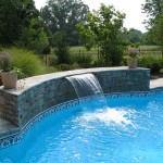 new-swimming pool waterfalls for home interiors