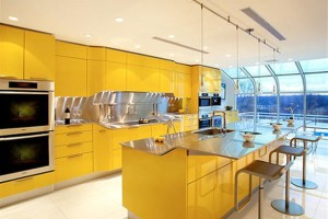 Yellow Kitchen Interior Photo Design