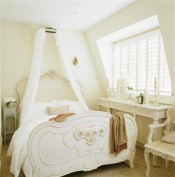 Design interior of modern bedroom country style french for Modern french country design