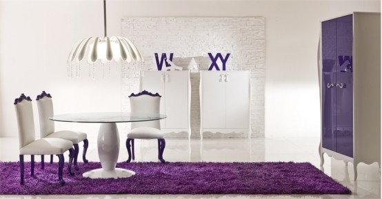 Elegant-Dining-Room-With-Bright-Purple-Interior-1