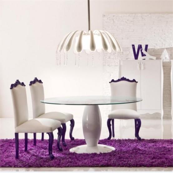 Elegant-Dining-Room-With-Bright-Purple-Interior-3