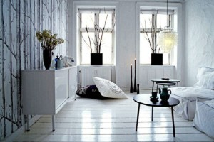 White Luxury Apartment Design Ideas