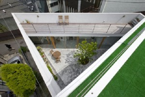 Triangular Garden House Design on Minimalist Home Design
