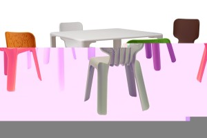 Bright Colors Tables and Chairs for Kids by Magis Collection