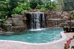 swimming pool waterfalls for home interiors