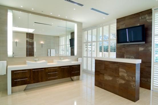 Bubble Big bathroom with Beige And Brown - HIA Australian Awards winning