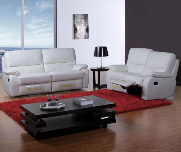 White-Leather-Recliners-Sofa-for-home-interiors